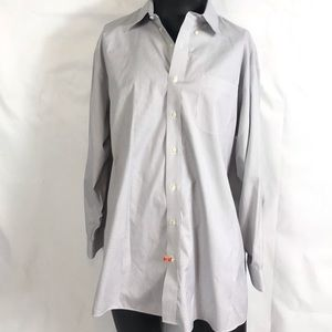 Jos A. Bank Striped Dress Shirt Size Neck 18.5 -34
